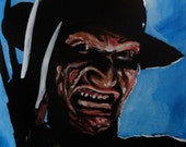 "Freddy Krueger 'Speed Painting' Original 10""x12"" Acrylic Painting by Lee Howard"