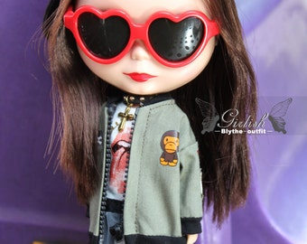 Girlish - Ape Punk Set for Blythe doll - dress / outfit