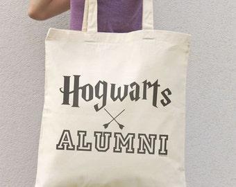 Hogwarts alumni tote bag-Harry Potter tote bag-College tote bag-tote bag-book bag-Hogwarts bag-nerd bag-Christmas gift-NATURA PICTA-NPTB100