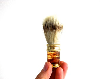 Vintage Mid Century Badger and Glass Shaving Brush