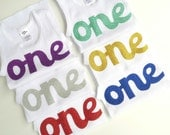 First Birthday Cake Smash Singlet Tank Glitter One Assorted Colors