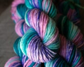 "Super Bulky Single yarn - 80/20 SW Merino/Nylon - Autocorrect Christmas - ""Fran's Sociopathic Orchid"""