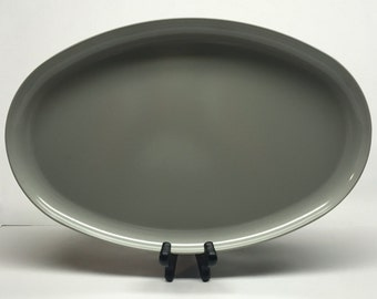Vintage Gray Platter Oval Genuine Melamine Spaulding Ware Tray 13 x 9 CHICAGO