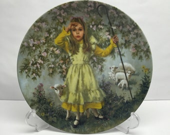 Reco Collectable Plate Little Bo Peep Plate