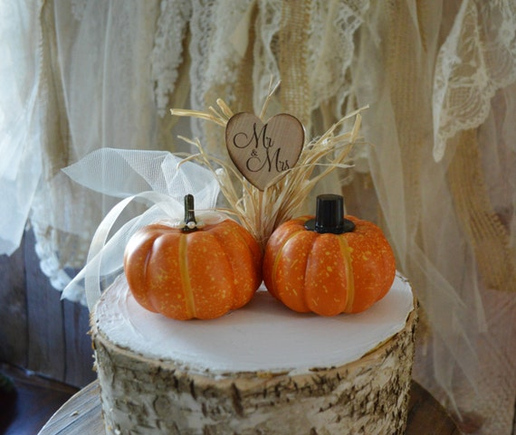 autumn themed wedding cake toppers fall wedding cake topper mini pumpkin topper groom 10898