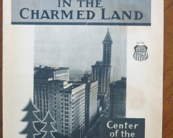 OLD Vintage Travel Booklet/RARE Seattle Washington 1930s/Union Pacific Northern