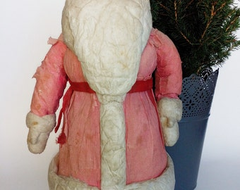 "14"" COTTON SPUN RUSTIC Santa Claus, Collectible, Vintage Christmas, Retro, Figurine, Father Frost,  Дед Мороз, Christmas Decor"