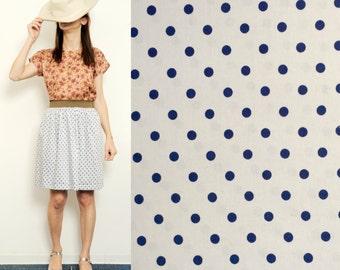 Handmade polka dots skirt [Marine Forest Skirt/Navy dots]