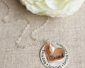 Personalized Jewelry . Mother Jewelry . Grandmother Necklace . Personalized Necklace . Name Necklace . Gift for Mom . Personalized . Blessed