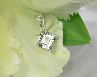 Conflict Free Jewelry, Conflict free Gemstones, Natural Gemstone Jewelry, Diamond Alternative, Herkimer Diamond Pendant, Sterling Silver