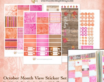 October Month View Kit for Erin Condren Life Planner or The MAMBI Happy Planners