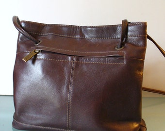 Vintage G.H.Bass Brown Leather Tote Bag