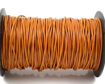 2mm Greek Leather - Tobacco - Round Leather Cord