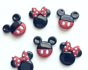 Mickey Minnie Magnets, Minnie Mouse, Mickey Mouse, Glitter, Disney, Fridge Magnets, Pushpins
