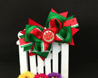 Watermelon Cute bow for babies, toddlers and big girls ~ Bow measures approximately 5.5 inches