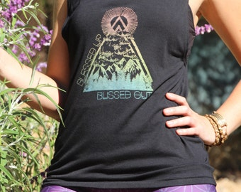 BLESSED Up & BLISSED Out Muscle Tee