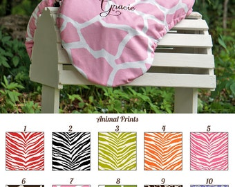 MADE TO ORDER Animal Print Reversible Saddle Cover Cheetah, Zebra, Leopard, Giraffe