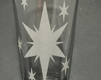 Twilight Sparkle Cutie Mark Etched Pint Glass