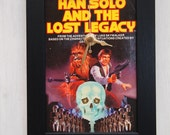 Framed Star Wars book page clock - Han Solo & The Lost Legacy (1983)