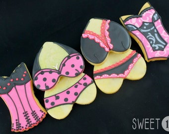 Custom Lingerie Sugar Cookies (Set of Six)