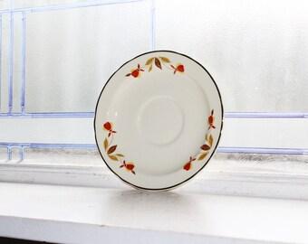 Hall Autumn Leaf Saucer Jewel Tea Vintage 1950s