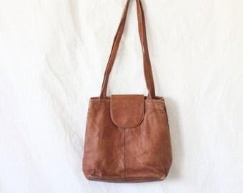 bomber leather shoulder bag