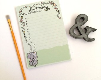 Elephant Notepad - Don't Worry - Motivational To Do List
