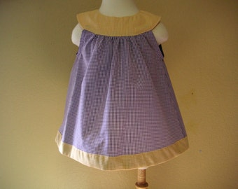 LSU Baby Girl Clothes LSU Baby Girls Dress of Purple and Gold Gingham