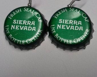 Sierra Nevada Bottle Cap Earrings