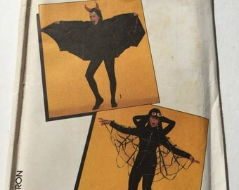 1987 Adult Spider and Bat Costume Simplicity 8330 UnCut Halloween Adult Costume