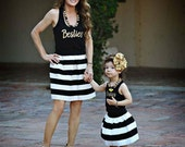 Besties Women Racer Back Tank Mommy Auntie Girls Best Friends Besties BFF T-Shirt Design