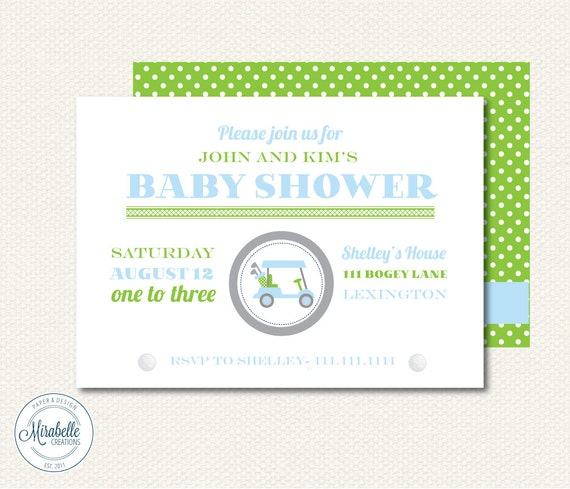 PRINTABLE CUSTOMIZABLE INVITATIONS -- Preppy Golf Collection -- Mirabelle Creations