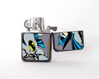 Batman lighter, pop art lighter, pop art Batman, 90s lighter, Batman fan art, groomsman gift, graphic novel, Star lighter, Gotham lighter