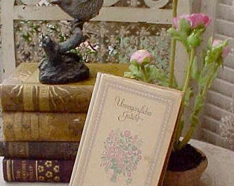 """Charming Antique German Poetry Book-""""Unvergangliches Gedicht"""""""