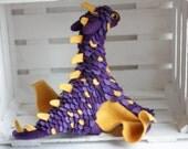 Dragon of pansies Needle felted dragon toy Fantasy dragon figurine