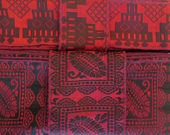 Red Silk Sari borders, Sari Trim SR493