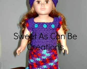 18 inch doll or American Girl doll Tank Top Skirt set