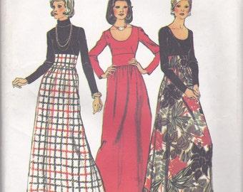 70s Long Dress Pattern Simplicity 5973 Size 12