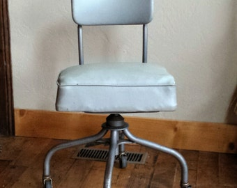 Vintage Office Chair Steelcase Swivel Desk 1950s