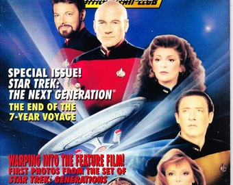 Vintage Star Trek The Official Fan Club Magazine 97 June 1994 - Special Issue - Star Trek The Next Generation - 7 Year Voyage - Free Photos