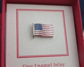 American Flag Enamel Inlay Lapel Pin- EP101