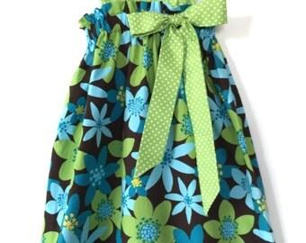 Handmade Floral sundress - toddler summer dress -pillowcase dress - cotton dresses for babies - sundresses for baby girls - Hawaiian dress