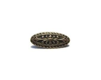 Vintage Gold Tone Antique Style Repousse Brooch