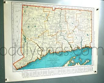 1939 Connecticut Vintage Atlas Map
