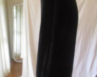 Vintage Black Slinky Stretchy Mock Turtleneck Dress OS