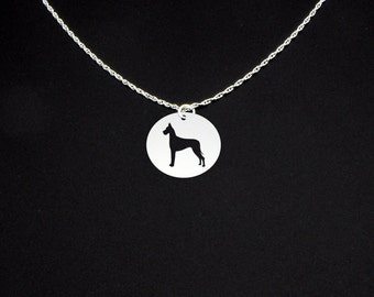 Great Dane Necklace - A - Great Dane Jewelry - Great Dane Gift
