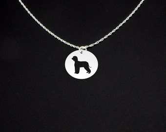 Irish Water Spaniel Necklace - Irish Water Spaniel Jewelry - Irish Water Spaniel Gift