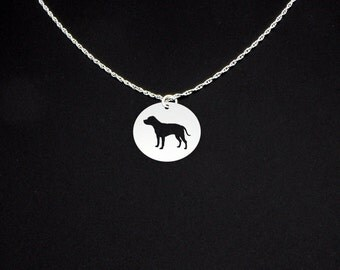 Staffordshire Bull Terrier Necklace - Sterling Silver