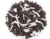 Coconut Black Tea, CANIGAO COCONUT, Organic Tea Blend, Hand Blended, Island Coconut Tea, Tropical, Iced Tea, Caffeinated, 2oz Eco Box