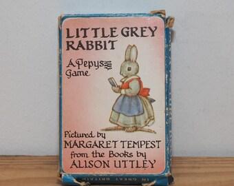 Little Grey Rabbit card game, Alison Uttley, vintage childs flashcards, Pepys Series England, Woodland creatures